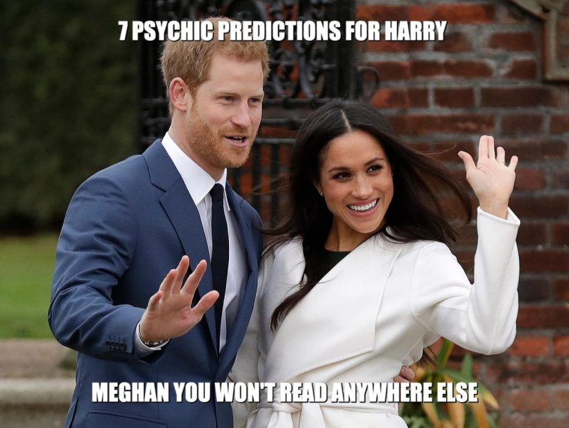 what do psychics predict for harry and meghan